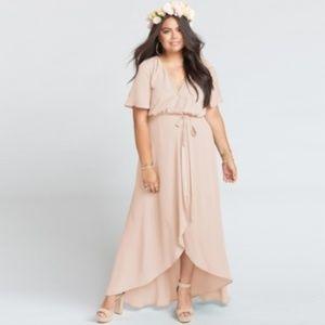 Show Me Your Mumu Wrap Dress XXLDusty Blush